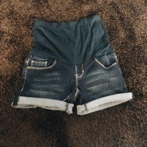 Pants - Size S Stretchy Soft Denim Maternity Shorts